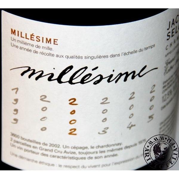 Champagne selosse millesime
