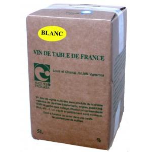 White wine sulfite free 5L