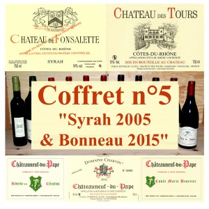 "Pack n°5 ""Syrah 2005 & Bonneau 2015"" (5 wines + 1 oil)"