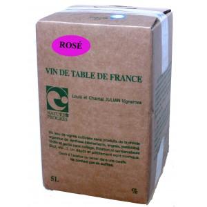 Rosé wine sulfite free 5L