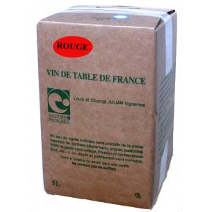 Red wine sulfite free 5L